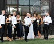 Couple celebrating with champagne at Zonzo Estate - Wedding Venues Yarra Valley